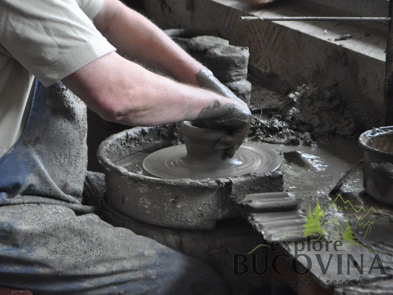 Black ceramic in Marginea