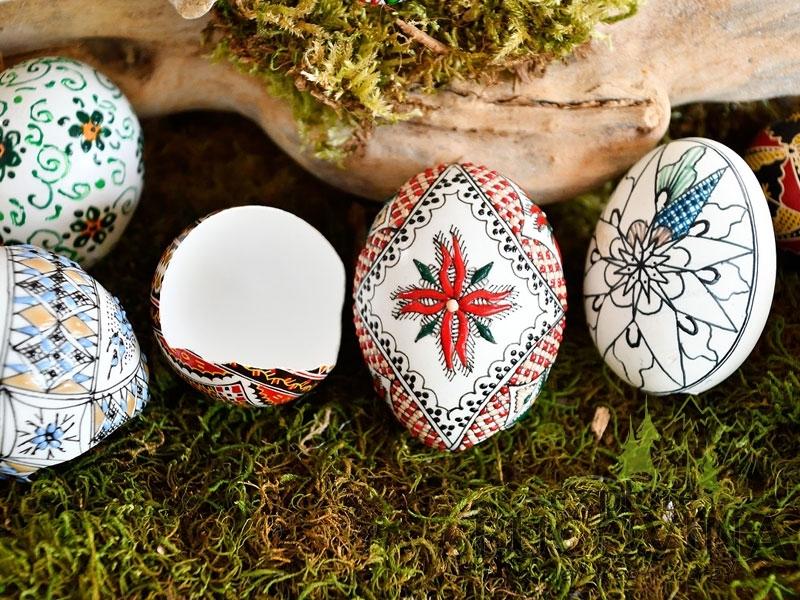 Painted eggs Nord della Romania