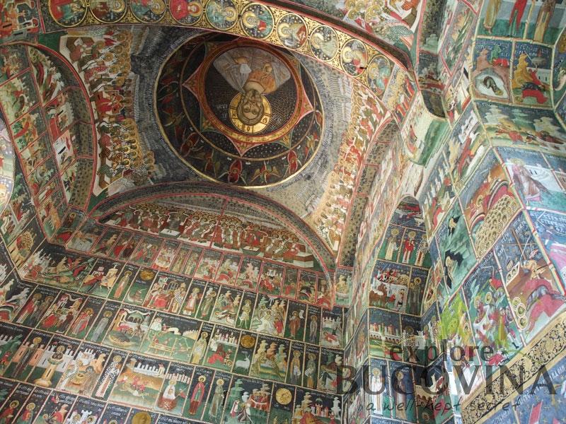 Inerior Frescoes Sucevita Monastery